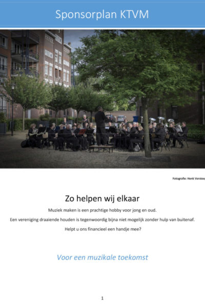Sponsorplan •KTVM.nl